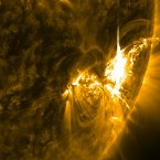 Image of the sun releasing a massive flare in July. Image: NASA Goddard/Flickr.