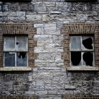 Windows from abandoned Bolands Mill in Dublin, Ireland, famous for its part in 1916 rising. Image: Daniel Dudek