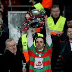 Brian Óg Maguire led Lisnaskea Emmets to All-Ireland Intermediate Football Championship glory in 2011 before losing his life in a workplace accident in September aged just 24. Image: INPHO/Ryan Byrne