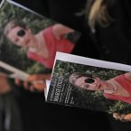 16 May: People attend a memorial service for Marie Colvin, the Sunday Times war correspondent who was killed in Homs, Syria on 22 February. (AP Photo/Lefteris Pitarakis)