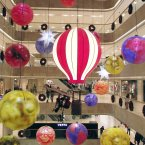 A general view of Christmas decorations at a shopping mall in Nanjing, Jiangsu Province of China. (Photo by ChinaFotoPress)***_***434855747