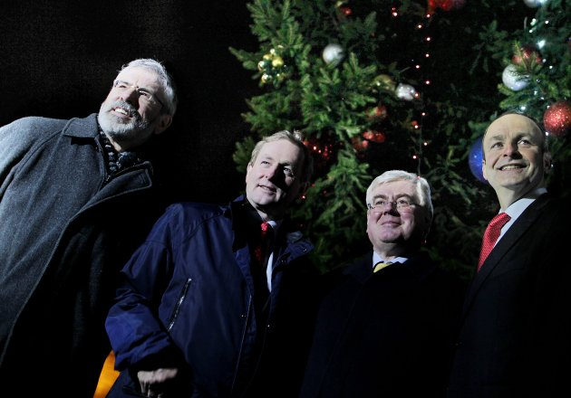 Christmas Tree lights at Leinster House