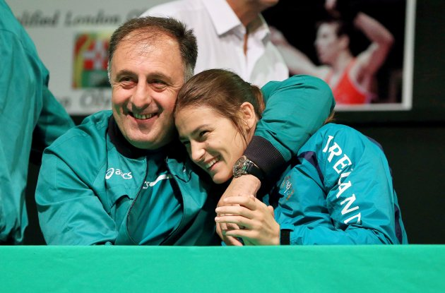 Coach Zaur Antia and Katie Taylor 15/8/2012