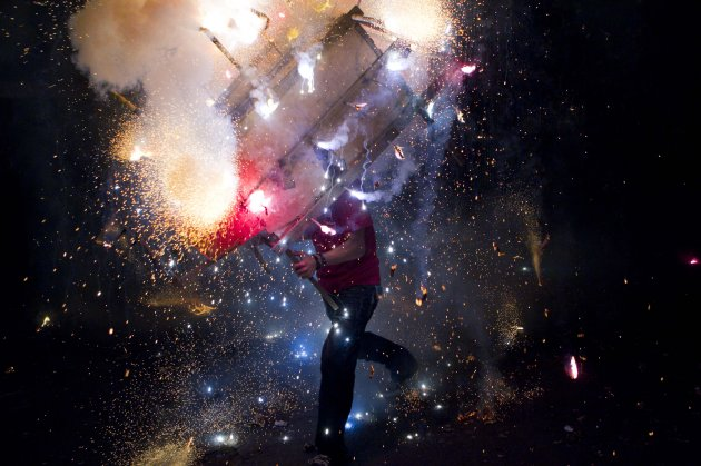 crazy firecracker man