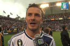 VIDEO: David Beckham basks in glory of another title