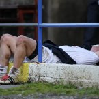 Exhaustion. Kildare's Emmet Bolton catches his breath after getting substituted during the final moments of the match. (INPHO/Cathal Noonan).