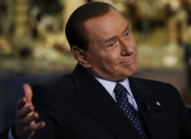 Silvio Berlusconi on RAI TV tonight.