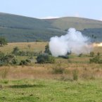Javelin anti tank missile is fired in the Glen of Imaal, July 2012.
