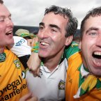 Hail Jim. Donegal's manager is congratulated by fans after their triumph. (INPHO/Jonathan Porter).