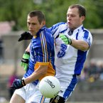 Closely-fought. Wicklow and Waterford serve up a tight battle in Aughrim before the home side win after extra-time. Here Wicklow attacker John McGrath tussles for possession with Waterford's Kieran Connery. (INPHO/Lorraine O'Sullivan).