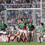 The All Ireland champions were derailed in this semi-final at HQ, despite a dramtic late fight-back. Mayo had romped to a six-point half time lead and extended it in the third quarter to lead 0-17 to 0-8 before the Dubs hit seven in a row and a clear-cut goal chance fell to Bernard Brogan in front of Hill 16. He couldn't take it and Mayo held on.  