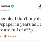 Owen obviously spends more time tweeting than playing these days, but he remains an interesting and provocative footballing voice.