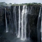 Waterfall plummeting 355 feet over a sheer cliff face at Victoria Falls, Zimbabwe (Eye Ubiquitous/Press Association Images)