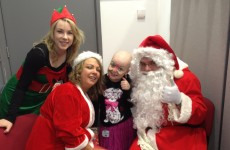 Thirty children from Our Lady's Children's Hospital, Crumlin fly on the Santa Express