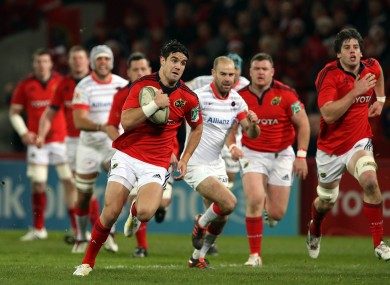 Conor Murray makes a first-half break.