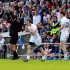 Debut boy. Finally Johnston makes his bow for Kildare when he comes on as a sub in the qualifier in Kingspan Breffni Park. (INPHO/Donall Farmer).