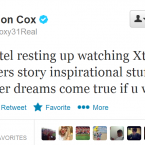 He may not be the best footballer in the world, but Cox's tweets are rarely less than amusing.