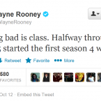 Not only is Wayne Rooney an exceptional footballer, he also has a terrific taste in TV shows.
