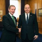 Meeting Prince Albert of Monaco. Pic: Photocall Ireland/DFA