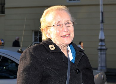 Pictured leaving Leinster House today Hon. Judge Catherine McGuinness