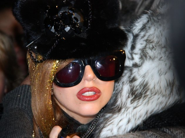 American singer Lady Gaga arrives in Moscow