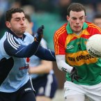 Carlow's Barry-John Molloy and Bernard Brogan.Credit: INPHO/James Crombie