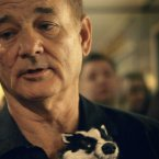 Bill Murray with a badger. (AP Photo/Joel Ryan)