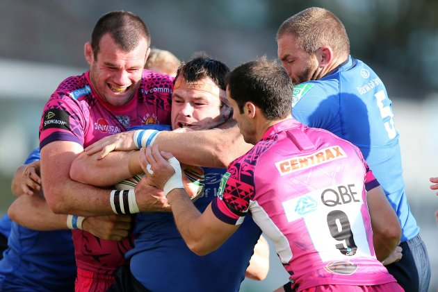 Cian Healy wrapped up by Tom Hayes 13/10/2012