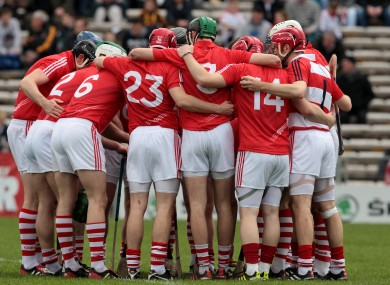 Cork team huddle