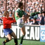 Barnsley-born McCarthy always played with his heart on his short, green sleeves. Captained Ireland at Italia '90 (INPHO).