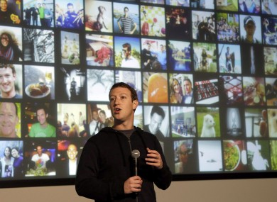Facebook CEO Mark Zuckerberg speaks to employees about the 'Graph Search' earlier this month.