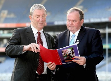 Changes: Chairman of the Football Review Committee Eugene McGee, left, and GAA president Liam O'Neill at the launch of the FRC report.