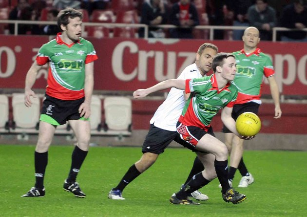 GAA exhibition game at half-time featuring local GAA club Eire Og Sevilla 28/1/2013