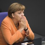 Angela Merkel will hope that the Eurozone's bailout fund will help end the continent's debt crisis. (AP Photo/Markus Schreiber)