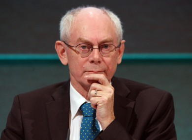 Herman van Rompuy: Thinking it over.