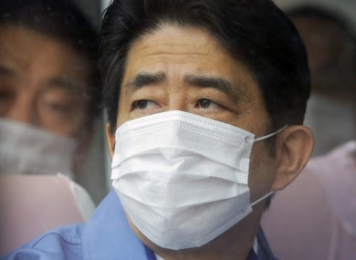 Japan's new Prime Minister Shinzo Abe visits one of the TEPCO facilities at the crippled Fukushima Dai-ichi nuclear power plant