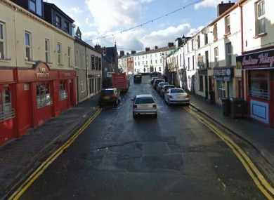 John Street in Omagh where the initial assault on Jason McGovern took place (File photo)