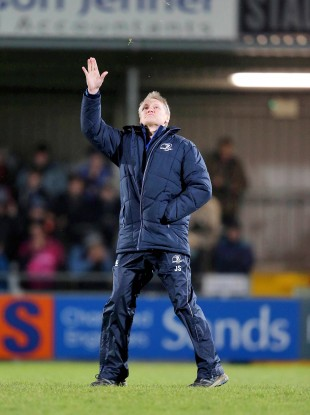 Wave goodbye: Leinster's head coach Joe Schmidt.