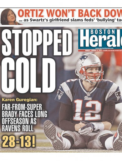 7 US newspapers that are laughing at Tom Brady and the Patriots this morning