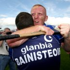 Waterford manager Davy Fitzgerald celebrates with Mullane at the final whistle but the season ends on a disappointing note as they lose the All-Ireland final heavily to Kilkenny.