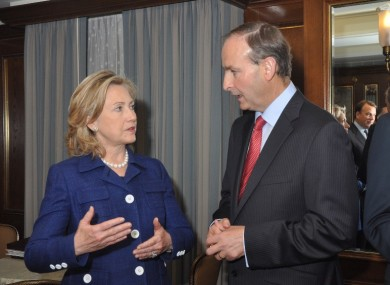 Hillary Clinton with Michel Martin in September 2010.