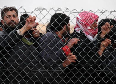 Syrian refugees attempting to enter Jordan, Jan. 28, 2013.