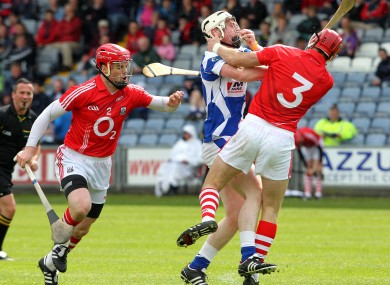 Shane O'Neill and Eoin Cadogan in action for the Cork hurlers.