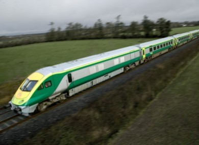 File photo of an Irish Rail train