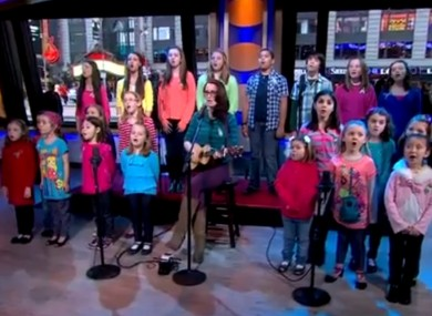 The children performing on ABC's Good Morning America earlier this month.