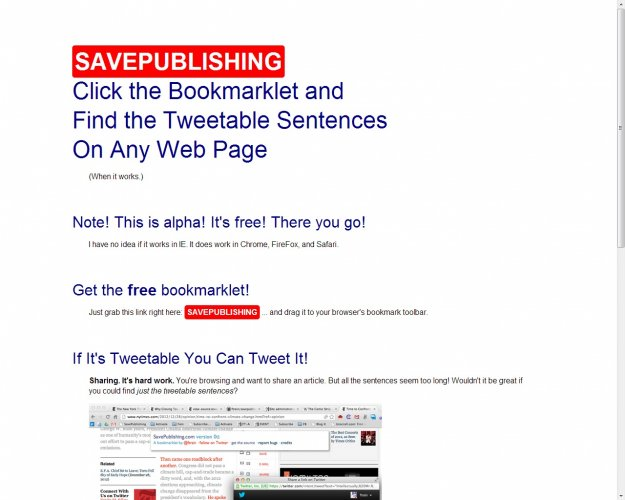 save publishing