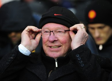 Alex Ferguson on the bench at White Hart Lane at the weekend.