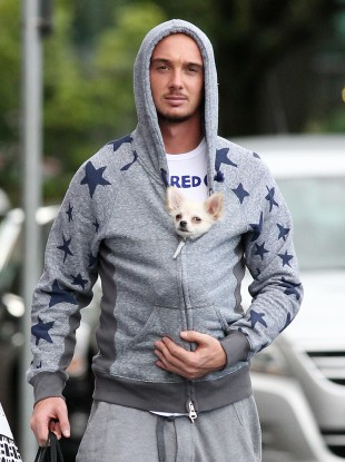 Stephen Ireland and Stephen Ireland's dog.