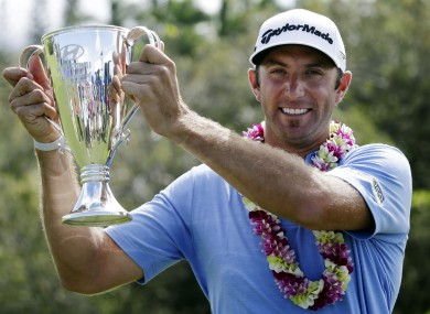 Johnson: four-stroke winner in Hawaii.