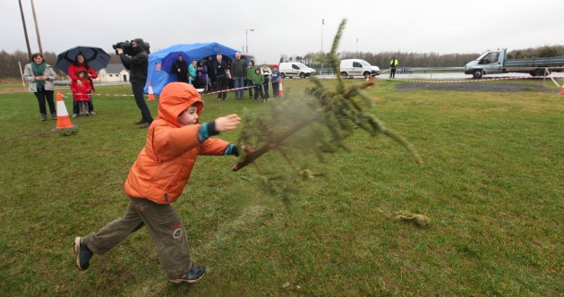 Pics: Limerick man wins Christmas Tree Throwing Championship